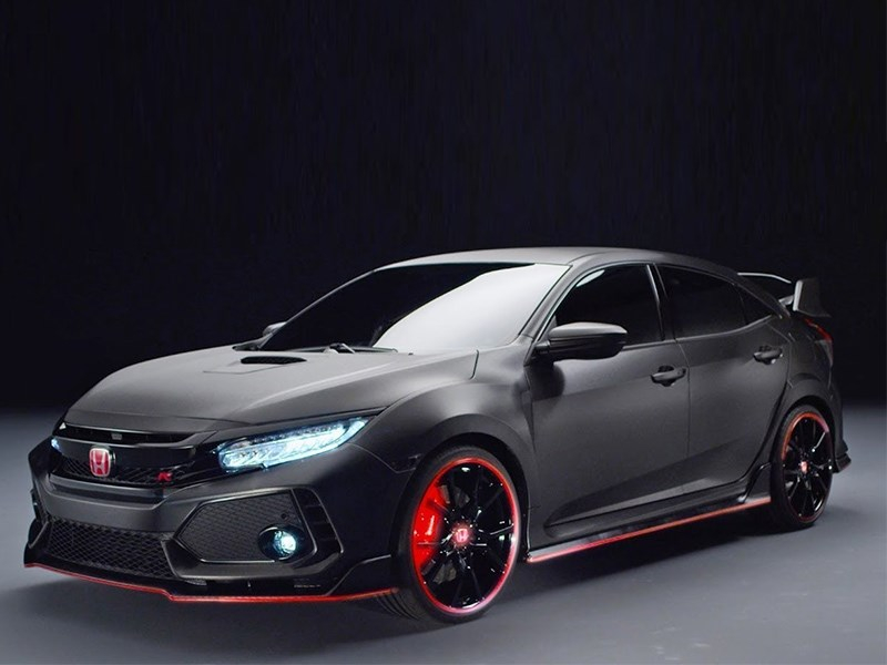 Honda Civic Type R - горячий подстаканник
